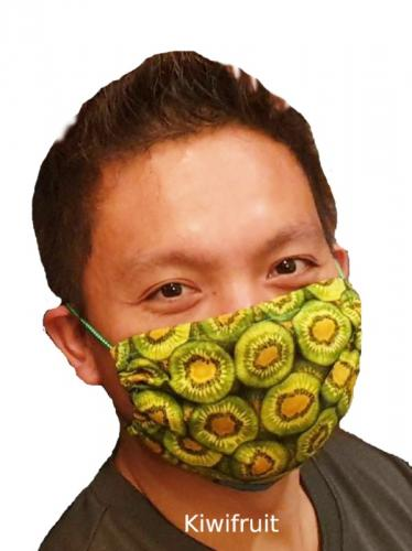 Kiwifruit Face Mask Surgical Kiwiana Prints